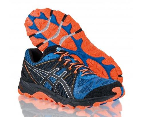 ASICS Men s Gel Fuji Trabuco 2 Trail Running Shoes Black Blue US9 .