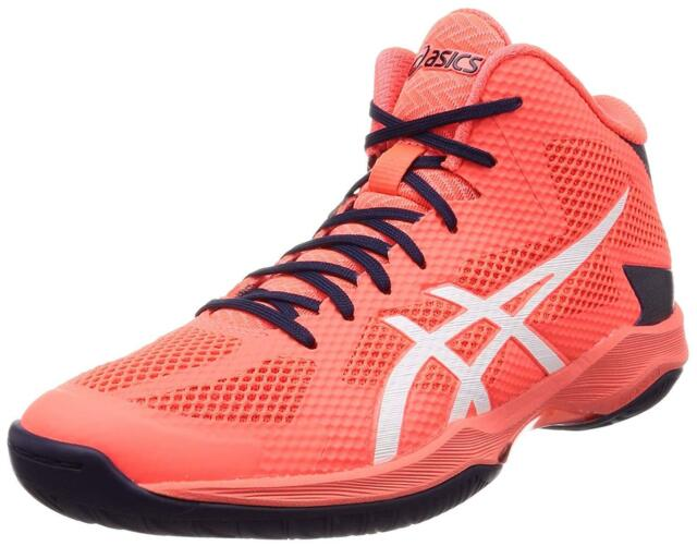 ASICS Volleyball Shoes V-SWIFT FF MT Mid TVR491 Orange White 2019 .