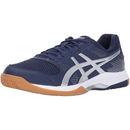 ASICS Men's Gel-Rocket 8 Volleyball-Shoes, Indigo Blue/Silver .