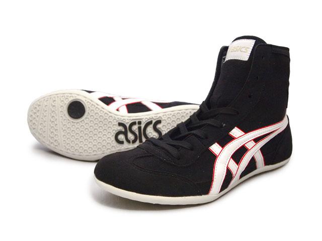 AMERICA-YA: ASICS EX-EO Wrestling Shoes Black x White x red .