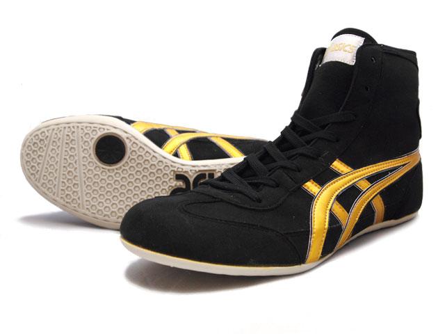 AMERICA-YA: ASICS wrestling shoes EX-EO in black X gold | Rakuten .