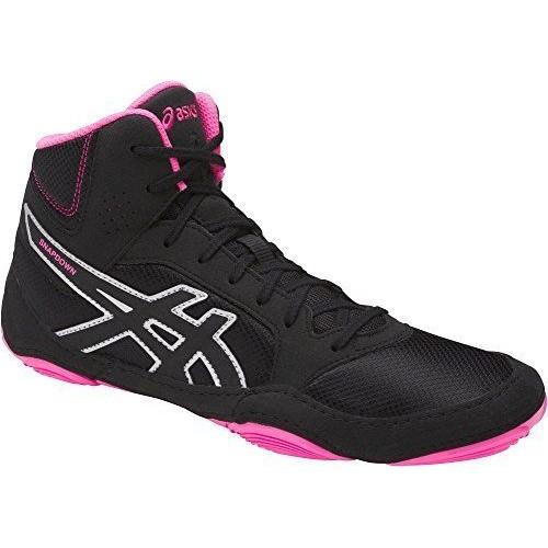 Wrestling Shoes ASICS Snapdown 2 Black/Hot Pink/Silver by JRWrestli