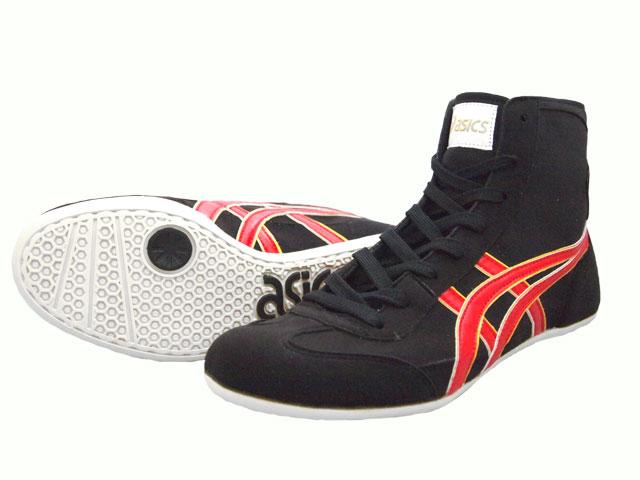 AMERICA-YA: ASICS EX-EO Wrestling Shoes black x red (outline in .