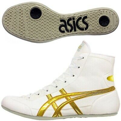 ASICS JAPAN Wrestling shoes EX-EO TWR900 white x gold x white .