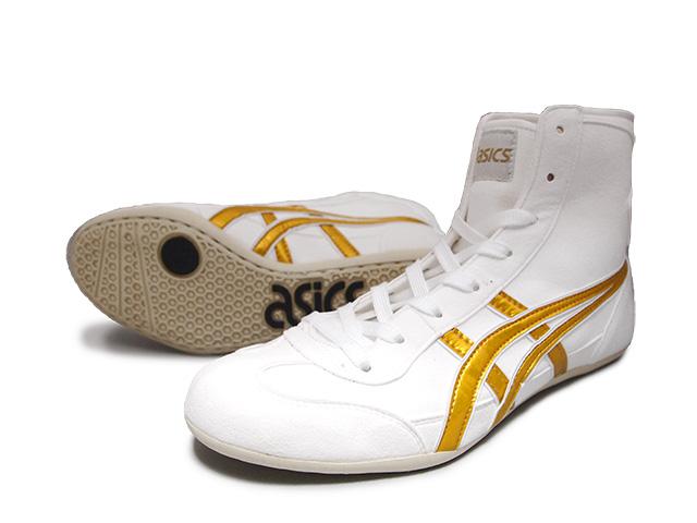 AMERICA-YA: ASICS EX-EO wrestling shoes White x Gold x white .