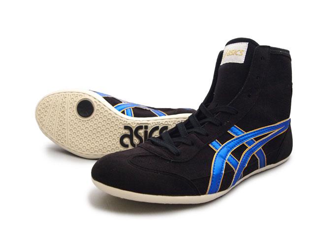 AMERICA-YA: ASICS EX-EO Wrestling Shoes Black x Blue x gold .