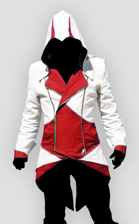 Assassins Creed Red and White Hoodie for Sa