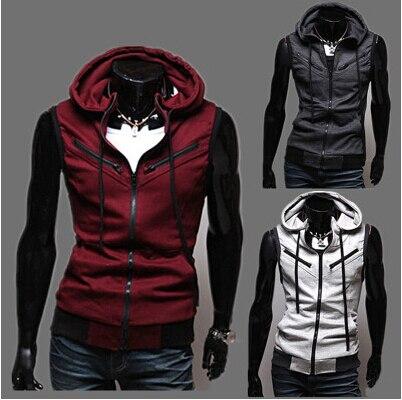2014 brand sleeveless sport suit men jacket assassins creed .