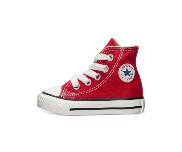 Infant Baby Converse All Star C/t Hi Top Sneaker Unisex Red 7j232 .