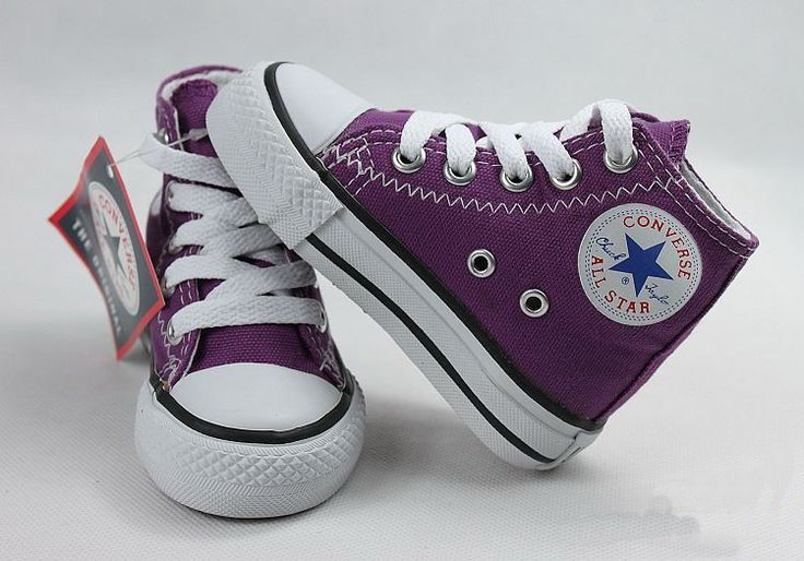 Purple baby converse. 68 | Baby girl shoes, Baby conver