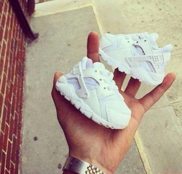 shoes, baby trainers, baby, nike, huarache, baby shoes - Wheretog