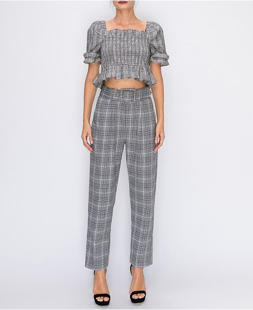 English Factory Baggy Trousers With Belt & Reviews - Pants .