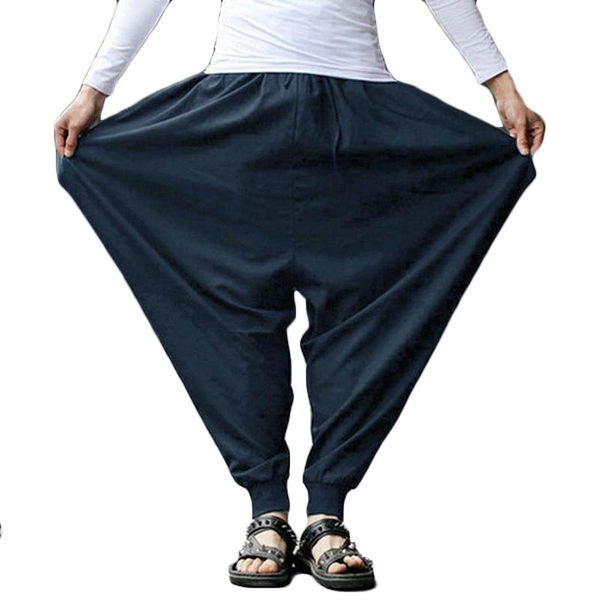 INCERUN Men Casual Harem Pants Loose Breathable Baggy Trousers .