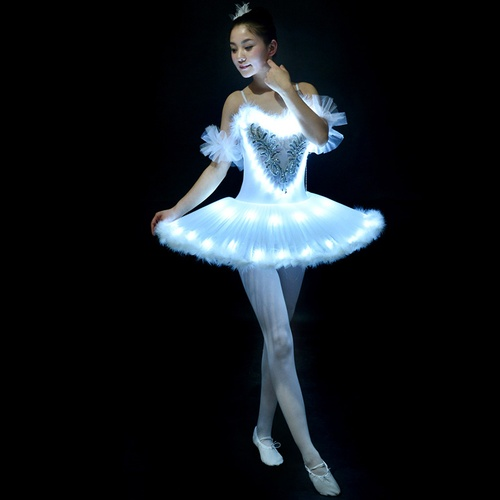 Professional Ballet Tutus LED Swan Lake Adult Ballet Dance Clothes .