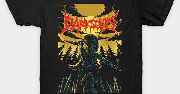 Unofficial Dark Souls Metal Band Tee - Gaming - T-Shirt   TeePubl
