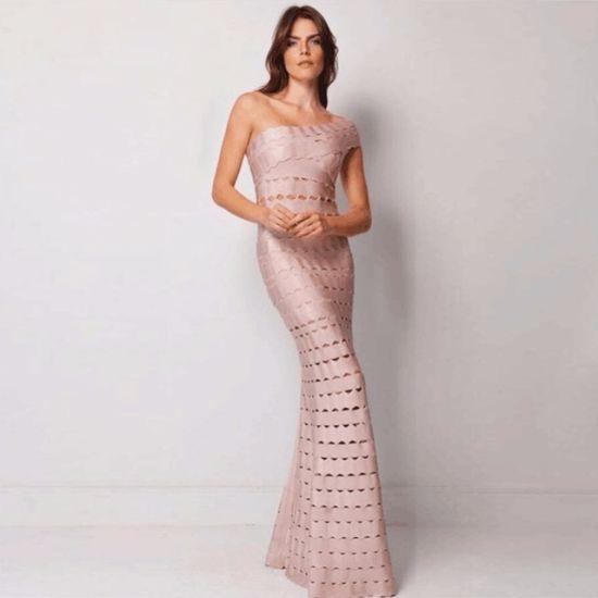 China Long Dress Prom Dress Nude Bandage Dress Evening Dress .