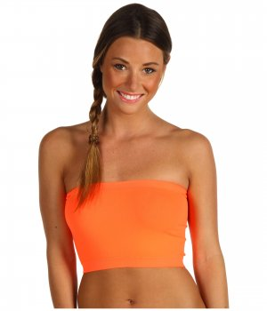 Women's Bandeau Top Neon Orange N