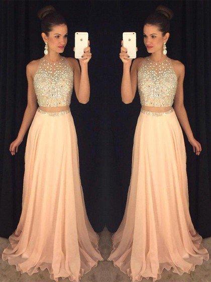 Halter Two Piece Prom Dresses, Formal Dresses, Graduation Party .