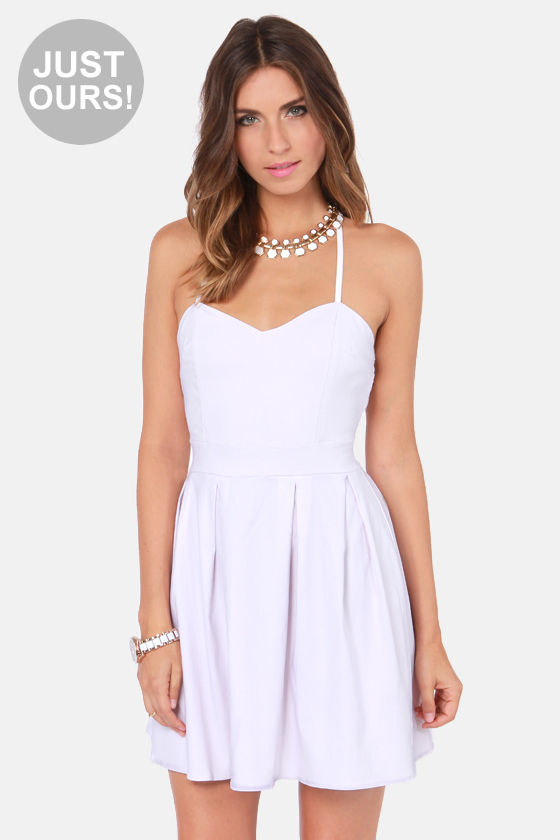 Cute Backless Dress - White Dress - $47.