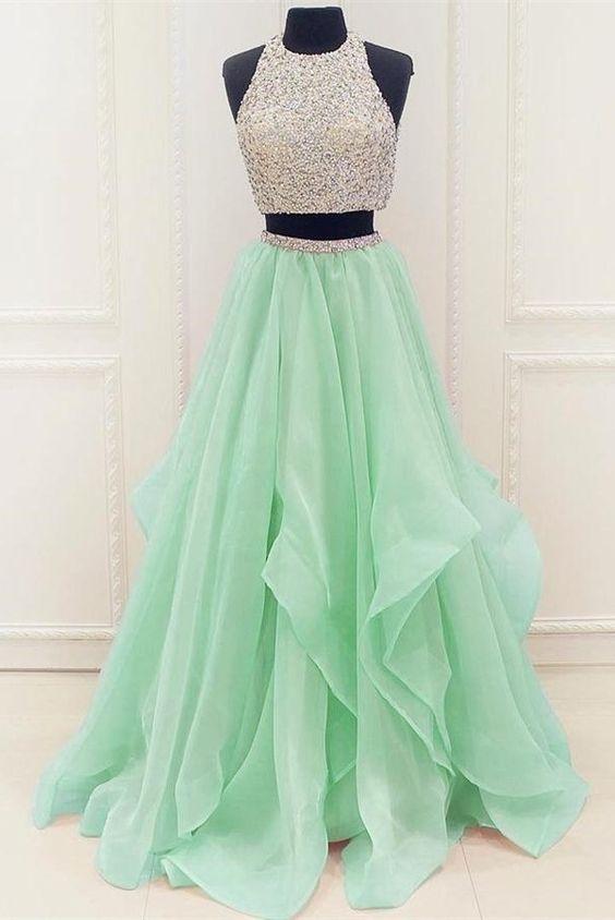 Two Pieces Prom Dresses, Party Dresses, Banquet Dresses, Formal .