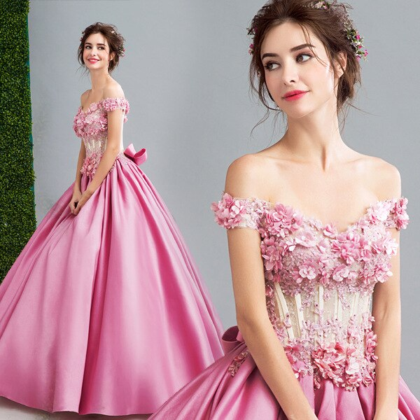 Elegant Women Flower Party Maxi Dress Celebrity Luxurious Off .