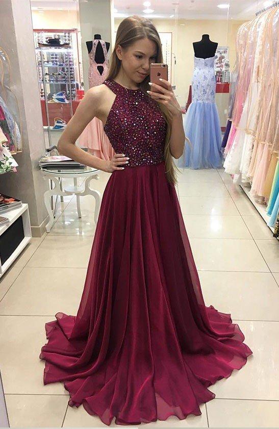 Burgundy Beaded Prom Dresses Celebrity Dresses Banquet Dresses .