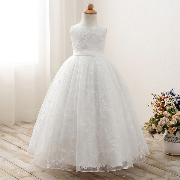2019 Flower Girl Party Banquet Dresses Floor Length Girls Pageant .