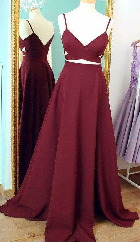 Burgundy Prom Dresses Celebrity Dresses Banquet Dresses Spaghetti .