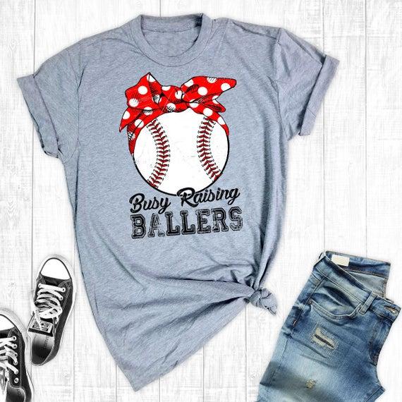 Busy Raising Ballers Baseball Mom Shirts Baseball Shirt | Et