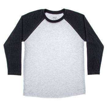Heather Gray & Black Adult Baseball Shirt - Large | Hobby Lobby .
