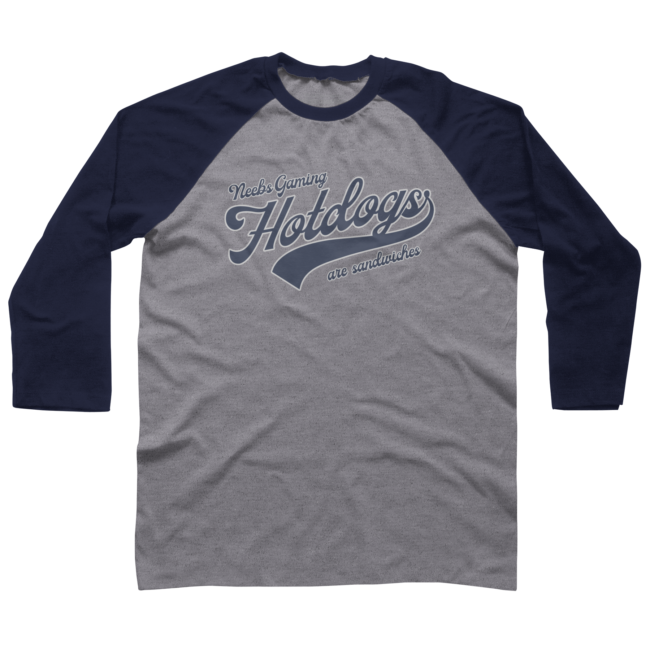 Hotdogs Are Sandwiches Vintage Baseball Tee Baseball Tee By .