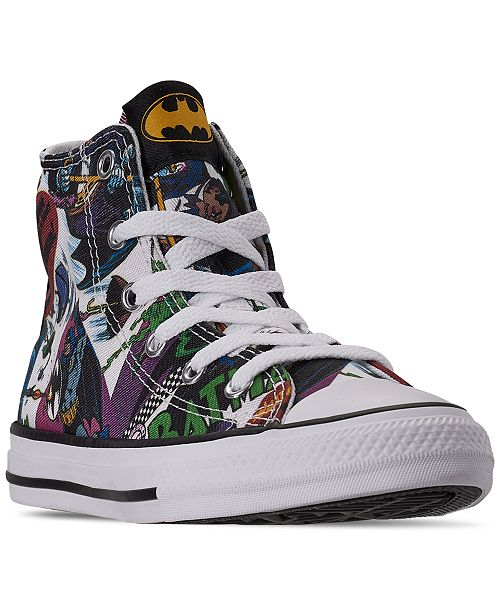 Converse Little Boys Chuck Taylor All Star DC Comics Batman High .