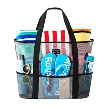 Amazon.com: SoHo, Mesh Beach Bag - Toy Tote Bag - Large .