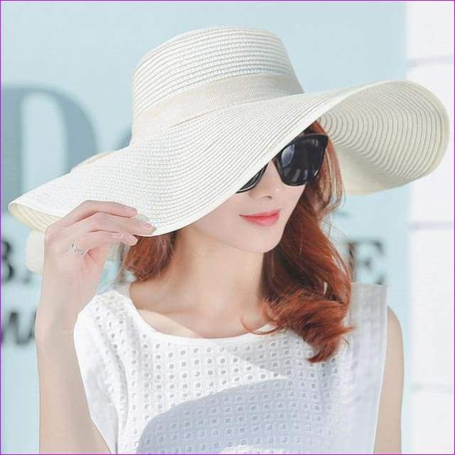 JCBling - Hot Sale Summer Sun Hats For Women Large Brim With .