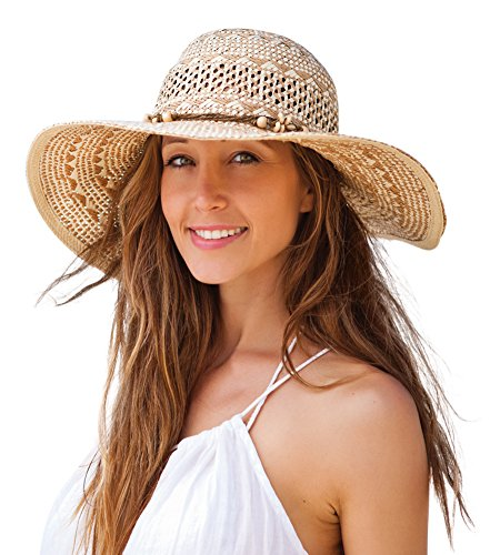 Kooringal Ladies Wide Brim Twist Paper Marcoola Women's Sun .