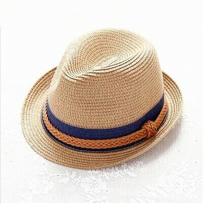Hemp Rope Beach Hats Men Women Summer Casual Panama Fedora Sun .