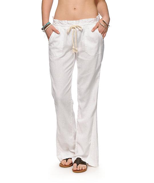 Roxy Oceanside White Beach Pants | Zumi