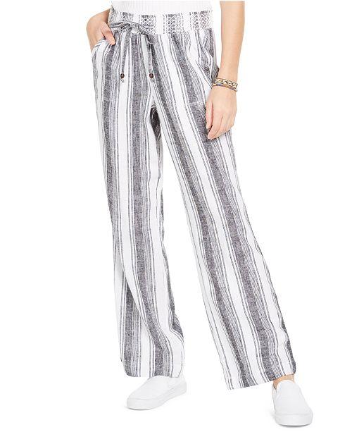 Sound/Style Striped Wide-Leg Beach Pants & Reviews - Leggings .