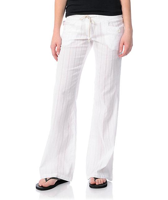 Billabong Laying Low White Beach Pants | Zumi