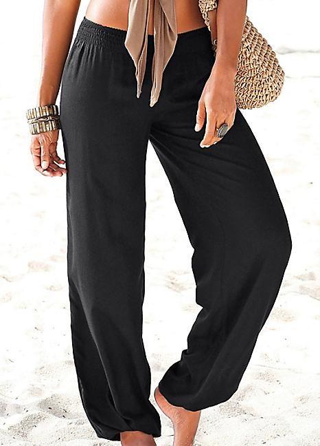 Black Beach Pants by LASCANA | Fashion, Beach pan