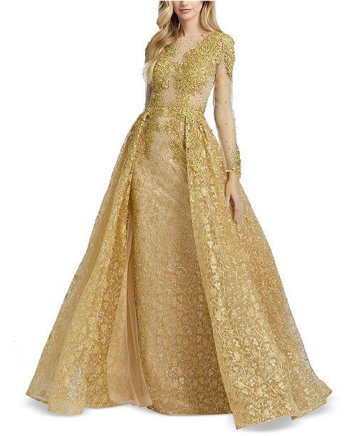 MAC DUGGAL Lace & Beaded Gown & Reviews - Dresses - Women - Macy