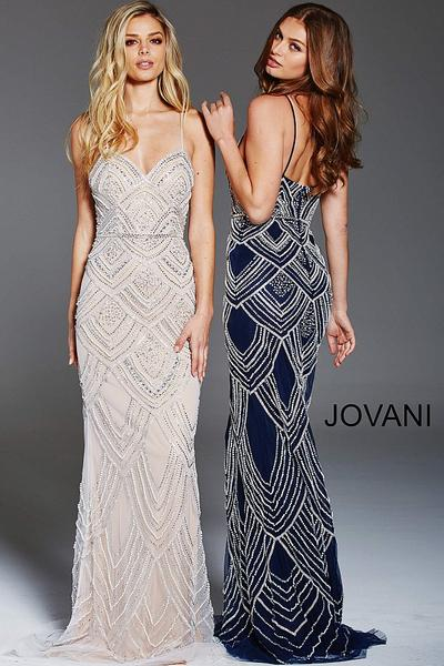 Jovani 60653 fully beaded evening gown - Mia Bella Coutu