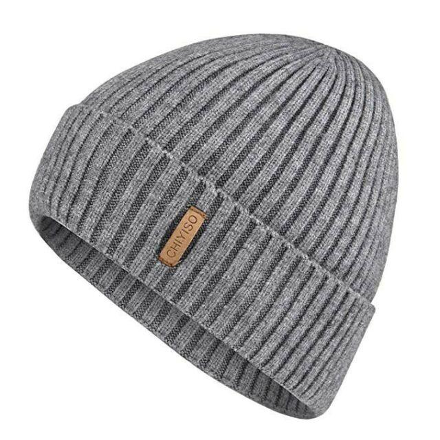 100 Supreme Cashmere Ribbed Knit Hat Ski Beanie Winter Cap Skull .