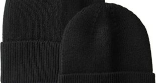 Amazon.com: Amazon Essentials Men's 2-Pack Knit Beanie Hat Black .