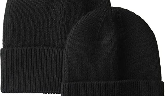 Amazon.com: Amazon Essentials Men's 2-Pack Knit Beanie Hat Black .