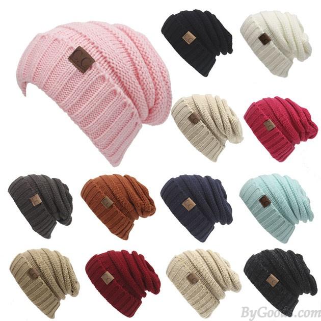 Women's Knit Beanie Hats Toasty Beanie Warm Wool Knit CC Hat .