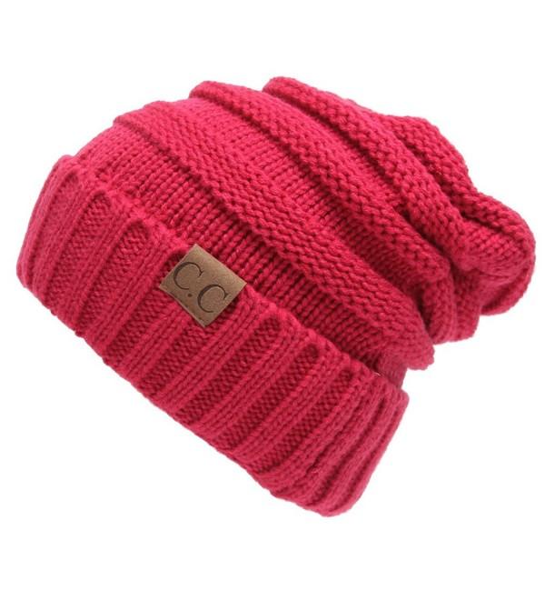 Winter Hats Women Cap Crochet Knit Thermal Slouchy Beanie Hat Rose .