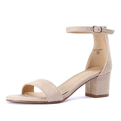 Beige Block Heel Sandals: Amazon.c