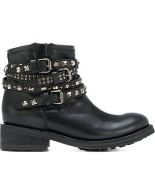 Big Savings for Ash - studded biker boots - women - Leather/rubber .