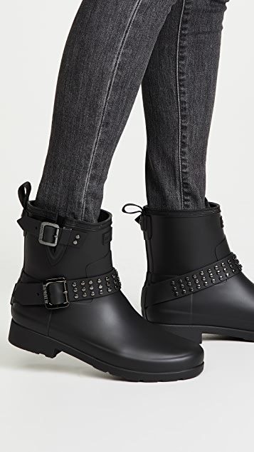 Hunter Boots Refined Stud Biker Boots | SHOPB